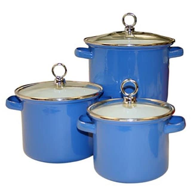 Reston Lloyd Calypso Basics 3-piece Azure Stock Pots