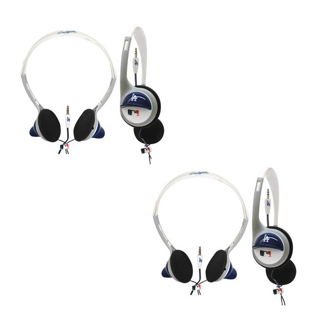 Nemo Digital MLB Los Angeles Dodgers Overhead Headphones (Case of 2)