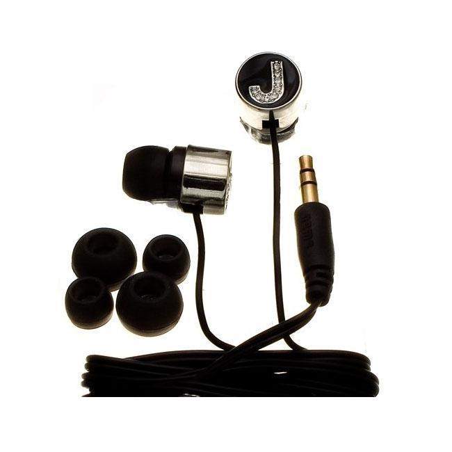 Nemo Digital Black Crystal 'J' Earbud Headphones