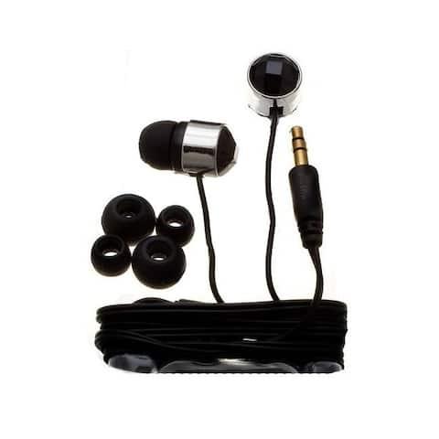 Nemo Digital Black Crystal Stud Earbud Headphones
