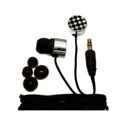Nemo Digital Black/ White Checkerboard Earbud Headphones