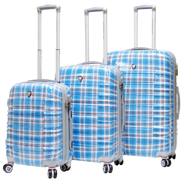 CalPak Impulse Plaid Lightweight Hard-side 3-piece Luggage Set