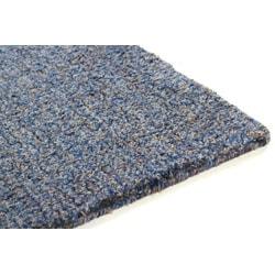 Hand-woven Blue Shag Wool Rug (8' x 10') - Thumbnail 2