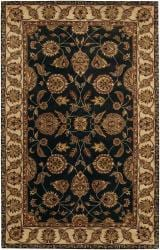 Hand-tufted Mandara Black Wool Rug (9' x 13')
