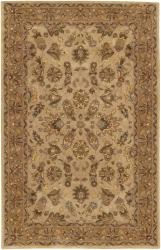 Hand-tufted Mandara Beige Traditional Wool Rug (7'9 x 10'6)