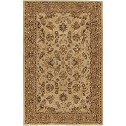 Hand-tufted Mandara Beige Traditional Wool Rug (7'9 x 10'6) - Thumbnail 0