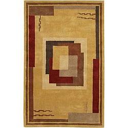 Artist's Loom Hand-tufted Contemporary Geometric Wool Rug (7'9x10'6) - Thumbnail 0