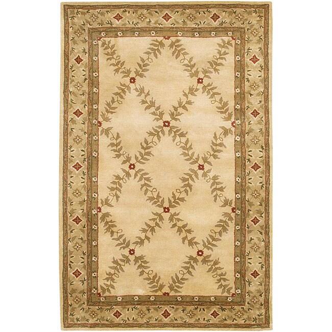 Shop Hand Tufted Mandara Ivory Wool Rug 9 X 13 Free