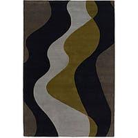 Artist's Loom Hand-tufted Contemporary Geometric Wool Rug (7'9x10'6) - 7'9 x 10'6
