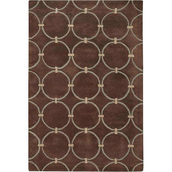 Hand-tufted 'Estella' Brown Wool Rug (7'9 x 10'6)