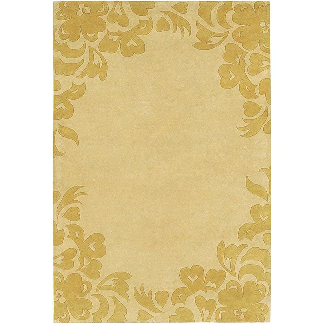 Artist's Loom Hand-tufted Contemporary Floral Wool Rug - 7'9 x 10'6