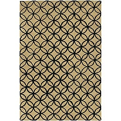 Artist's Loom Hand-tufted Contemporary Geometric Wool Rug (7'9x10'6)