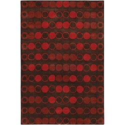 Artist's Loom Hand-tufted Contemporary Geometric Wool Rug - 5' x 7'6 - Thumbnail 0