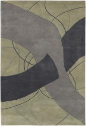 Artist's Loom Hand-tufted Contemporary Geometric Wool Rug (7'9x10'6) - Thumbnail 1