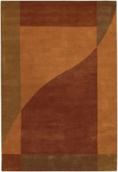 Artist's Loom Hand-tufted Contemporary Geometric Wool Rug (5'x7'6) - Thumbnail 1
