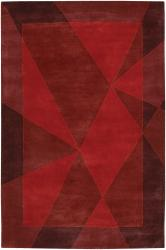 Artist's Loom Hand-tufted Contemporary Geometric Wool Rug (7'9x10'6) - Thumbnail 1