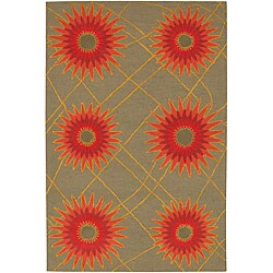 Artist's Loom Hand-tufted Transitional Floral Wool Rug (5'x7'6) - 5' x 7'6 - Thumbnail 0