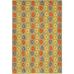 Artist's Loom Hand-tufted Contemporary Abstract Wool Rug - 5' x 7'6 - Thumbnail 0