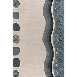 Artist's Loom Hand-tufted Contemporary Abstract Wool Rug (5'x7'6) - 5' x 7'6 - Thumbnail 0
