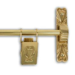 Polished Brass 36-inch Victorian Scroll Tapestry Hanger