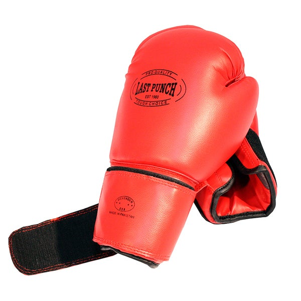 16-ounce Red Practice Boxing Gloves