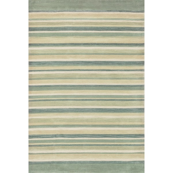 Hand-tufted Ackworth Ivory Abstract Rug (5' x 7'6)