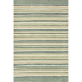 "Hand-tufted Ackworth Ivory Abstract Rug (5' x 7'6) - 5' x 7'6""/Surplus"