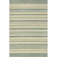 """Hand-tufted Ackworth Ivory/ Multi Abstract Rug (7'10 x 11') - 7'10"""" x 11'"""