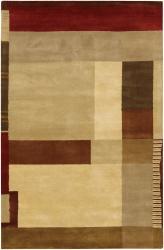 Hand-tufted 'Mandara' Multi-color Wool Rug (7'9 x 10'6) - Thumbnail 1
