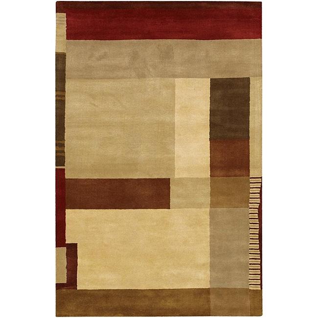 Hand-tufted 'Mandara' Multi-color Wool Rug (7'9 x 10'6)