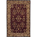 Hand-tufted Mandara Burgundy Oriental Wool Rug (7'9 x 10'6)