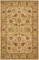 Hand-tufted Mandara Ivory Oriental Wool Rug (7'9 x 10'6) - Thumbnail 1