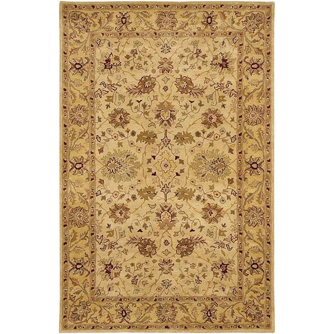 Hand-tufted Mandara Ivory Oriental Wool Rug (7'9 x 10'6)