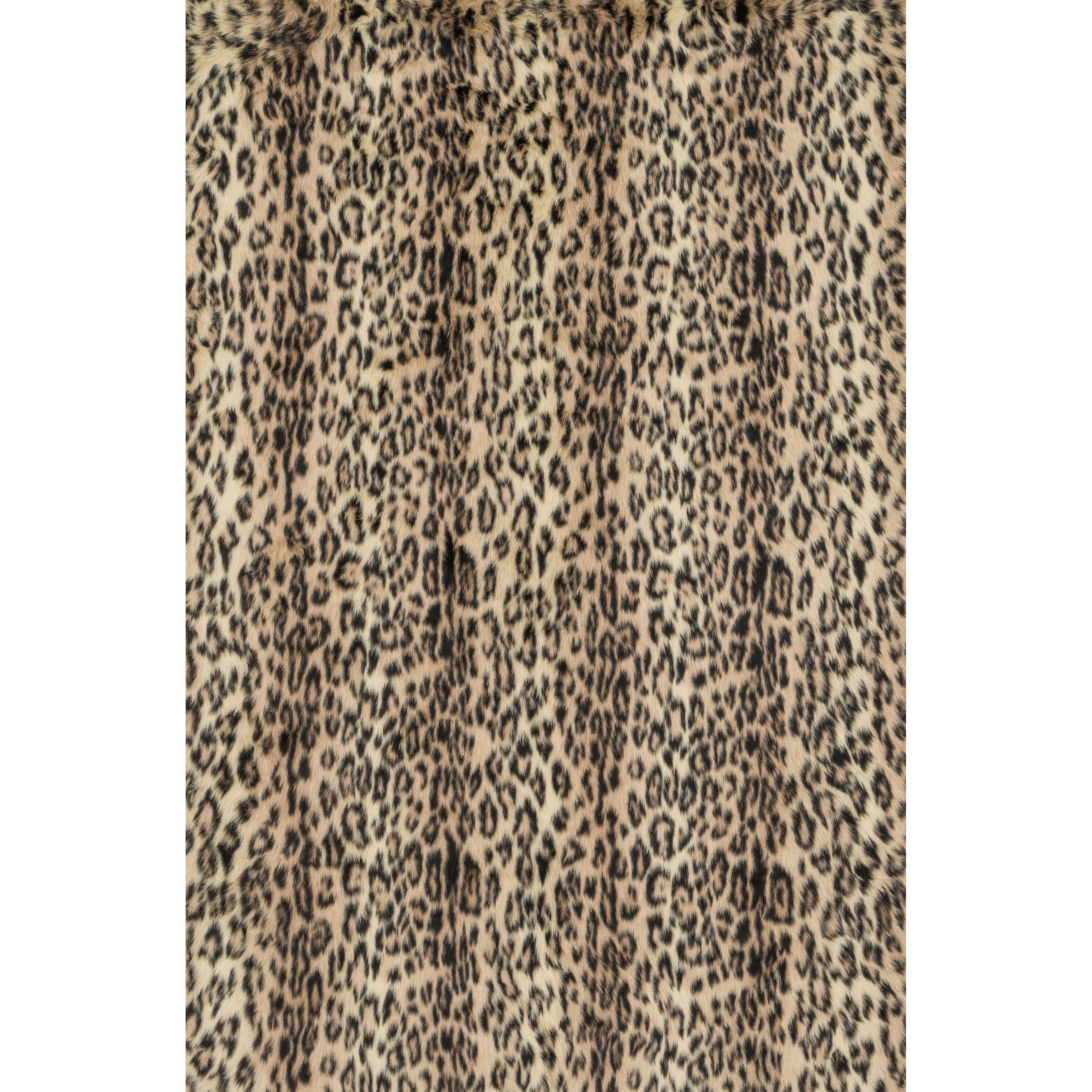 Alexander Home Jungle Cheeta Print Rug (2' x 3'), Brown, ...