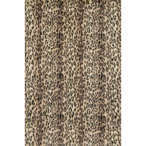 Jungle Cheeta Print Shag Area Rug - 2' x 3'