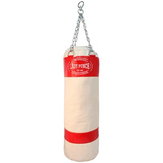 White Pro-quality Unfilled Canvas Heavy-duty Punching Bag (Model 162)