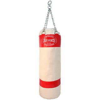 White Pro-quality Unfilled Canvas Heavy-duty Punching Bag (Model 162) https://ak1.ostkcdn.com/images/products/5088448/5088448/White-Pro-quality-Unfilled-Canvas-Heavy-duty-Punching-Bag-Model-162-P12944492.jpg?impolicy=medium