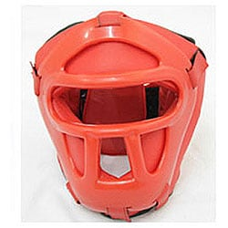 Head Cage Pro Red Heavy-Duty Head Gear - Thumbnail 0