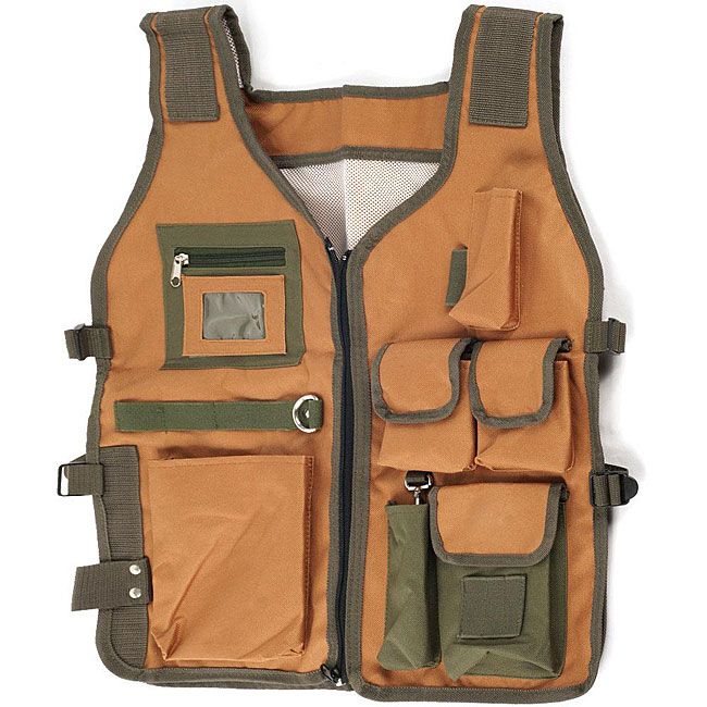 Rugged 7-pocket Nylon Camping Vest