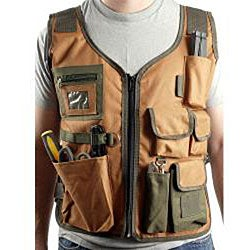 Rugged 7-pocket Nylon Camping Vest - Thumbnail 1