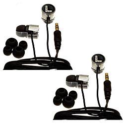 Nemo Digital Crystal Letter L Earbud Headphones (Set of 2)