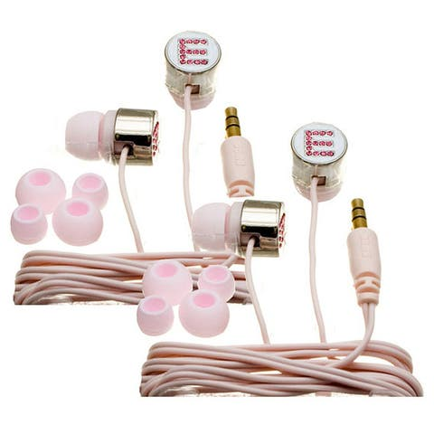 Nemo Digital Pink Crystal 'E' Earbud Headphones (Case of 2)