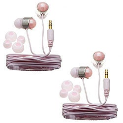 Nemo Digital Pink Pearl Stud Earbud Headphones (Case of 2)