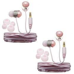 Nemo Digital Pink Pearl Stud Earbud Headphones (Case of 2)