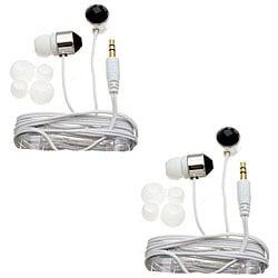 Nemo Digital Black/ White Crystal Stud Earbud Headphones (Case of 2)