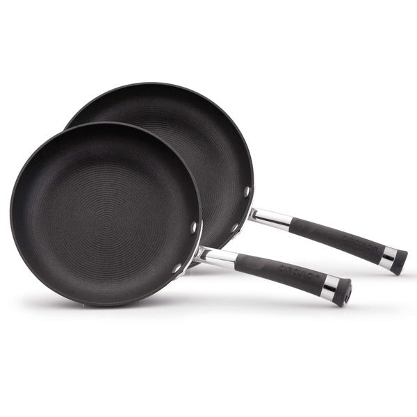 Circulon Contempo 8-inch and 10-inch Black French 2-piece Skillet Set