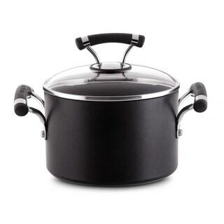 Circulon Contempo 3-quart Black Covered Saucepot