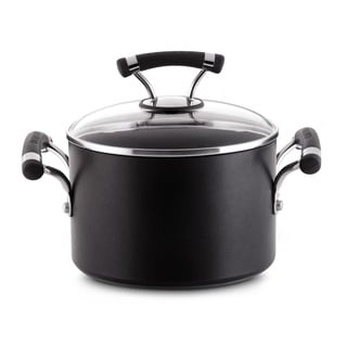 Circulon Contempo 3-quart Black Covered Saucepot