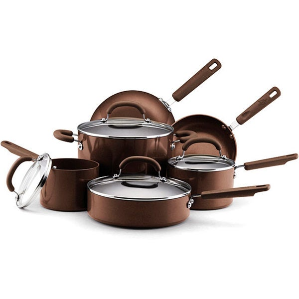 EarthPan II 10-piece Espresso Cookware Set