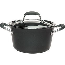 Anolon Advanced Hard-anodized Nonstick 4 1/2-quart Grey Tapered Saucepot
